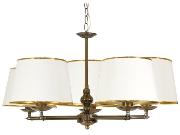 GRAND LAMPA WISZĄCA 5X40W E14 PATYNA - 35-99429