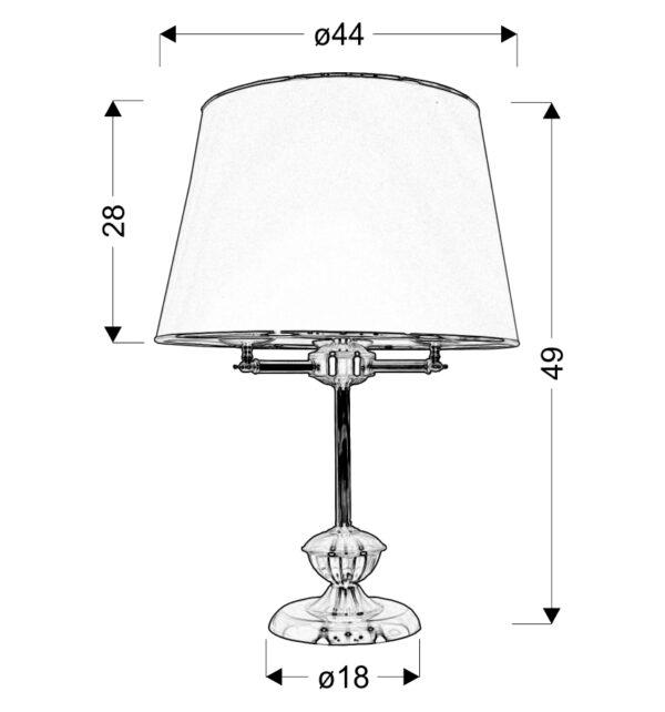 GRAND LAMPA GABINETOWA 3X40W E14 PATYNA - 41-99436