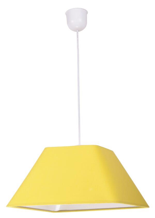 ROBIN LAMPA WISZĄCA 35 1X60W E27 ŻÓŁTY  PROMO (ABAŻUR 77-01771+LINKA 85-89369) - 31-03270