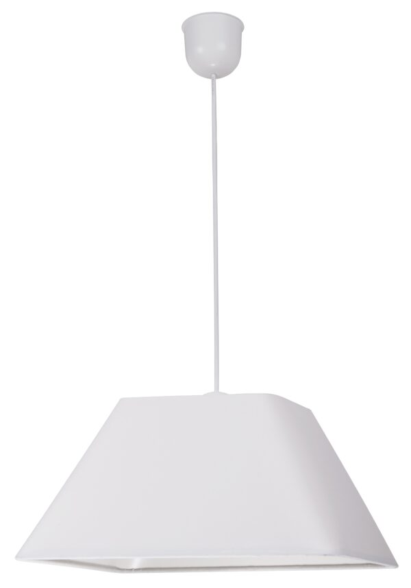 ROBIN LAMPA WISZĄCA 35 1X60W E27 BIAŁY  PROMO (ABAŻUR 77-01719+LINKA 85-89369) - 31-03331