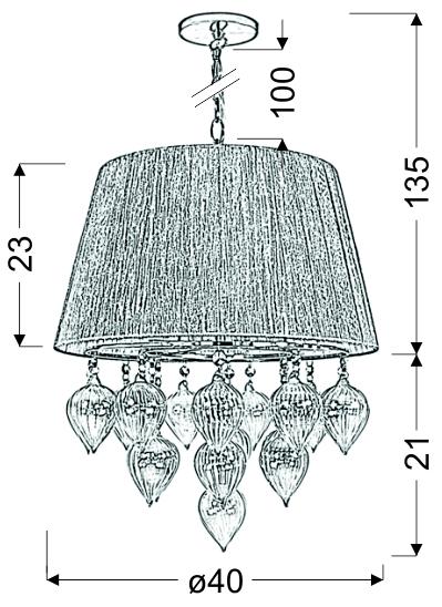 ELISSA LAMPA WISZĄCA 3X40W E14 SZARO BEŻOWY - 33-04567