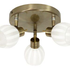 BARS LAMPA SUFITOWA PLAFON 3X40W G9 PATYNA - 98-06790