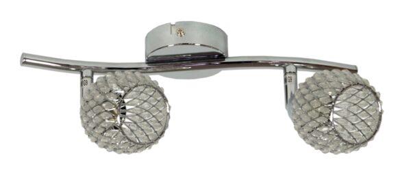 CLEAR LAMPA SUFITOWA LISTWA 2X40W G9 TRANSPARENTNY - 92-06875