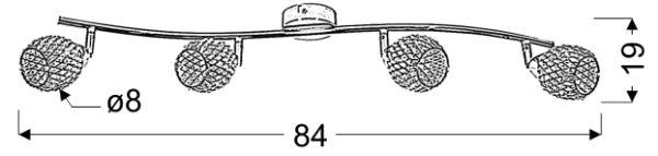 CLEAR LAMPA SUFITOWA LISTWA 4X40W G9 TRANSPARENTNY - 94-06882