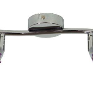 CLEAR LAMPA SUFITOWA LISTWA 2X40W G9 FIOLET - 92-06912