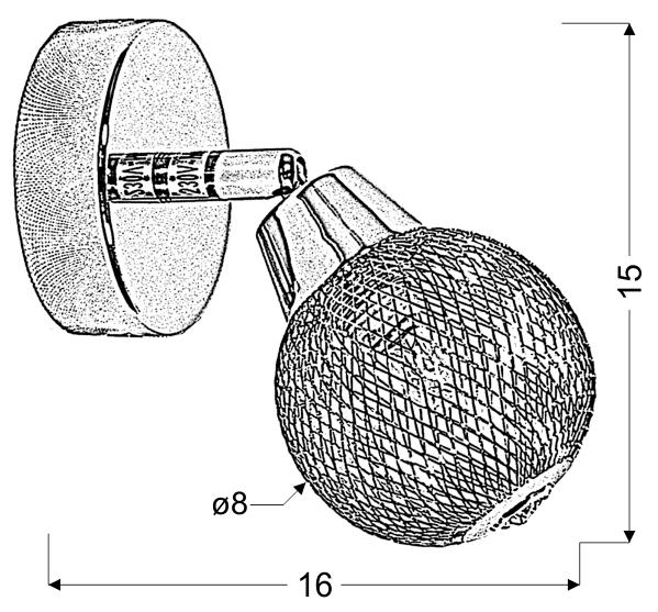 NOVEL LAMPA KINKIET 1X40W G9 CHROM - 91-06950