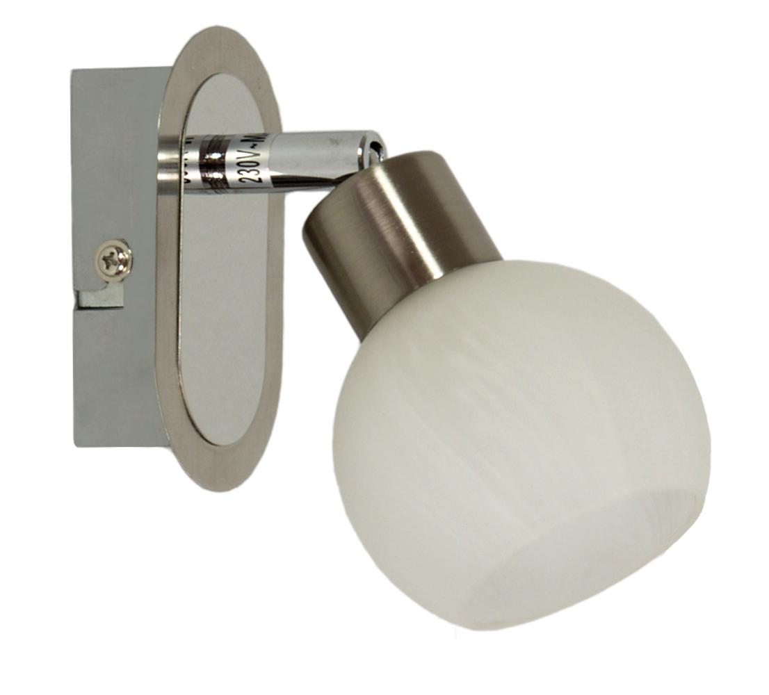 ALABASTER LAMPA KINKIET 1X40W G9 SATYNA+CHROM - 91-06998