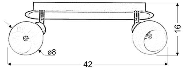 ALABASTER LAMPA SUFITOWA LISTWA 2X40W G9 SATYNA+CHROM - 92-07018