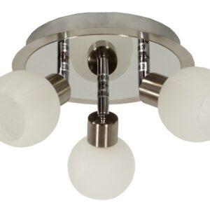 ALABASTER LAMPA SUFITOWA PLAFON 3X40W G9 SATYNA+CHROM - 98-07025