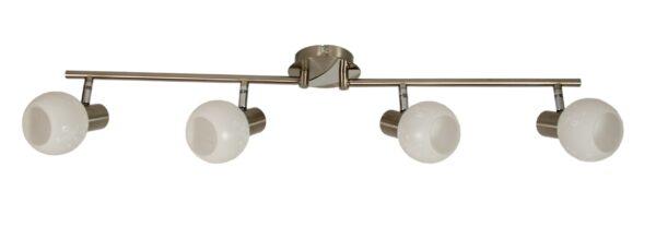 AVILA LAMPA SUFITOWA LISTWA 4X40W E14 SATYNA - 94-10063