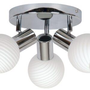 TURNO LAMPA SUFITOWA PLAFON 3X40W E14 CHROM - 98-10940