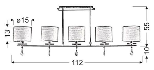 ESTERA LAMPA SUFITOWA 5X40W E14 CHROM - 35-11527