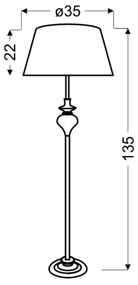 GILLENIA LAMPA PODŁOGOWA 1X60W E27 SREBRNA - 51-11947
