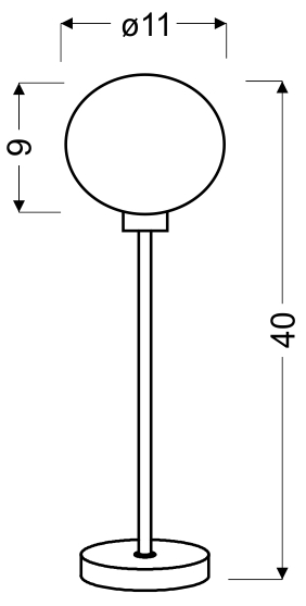 SPHERE LAMPA GABINETOWA 1X40W G9 CHROM - 41-14061