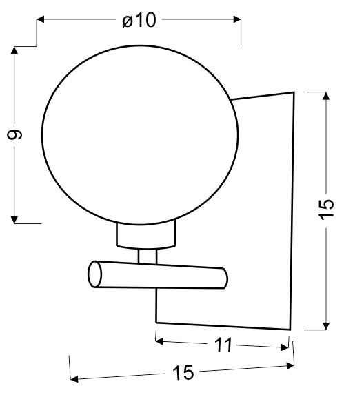 WIND LAMPA KINKIET 1X40W G9 CHROM - 21-14078