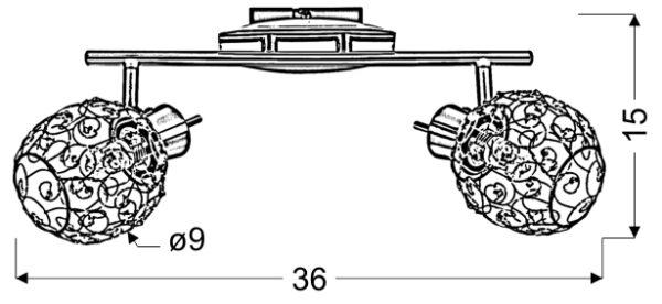 HORUS LAMPA SUFITOWA LISTWA 2X40W G9 CHROM - 92-19141