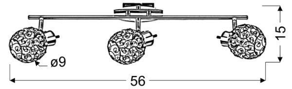 HORUS LAMPA SUFITOWA LISTWA 3X40W G9 CHROM - 93-19158