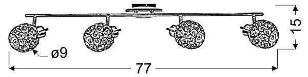 HORUS LAMPA SUFITOWA LISTWA 4X40W G9 CHROM - 94-19165
