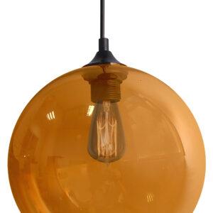 EDISON LAMPA WISZĄCA 25 1X60W E27 BURSZTYNOWY + ŻARÓWKA - 31-21397