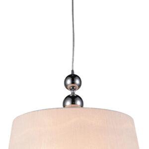 CLARA LAMPA WISZĄCA 45 1X60W E27 CHROM / BIAŁY - 31-21601