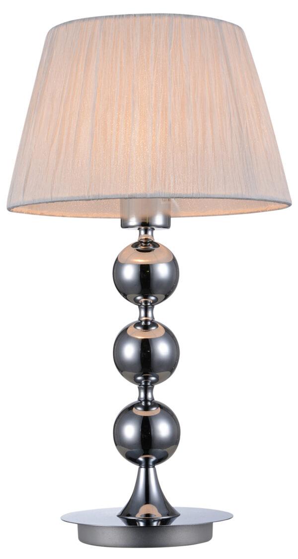 CLARA LAMPA 1X60W E27 CHROM / BIAŁY - 41-21632