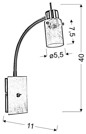 FROZEN LAMPA KINKIET NA WYSIĘGNIU 1X40W G9 NIKIEL MAT - 91-22493