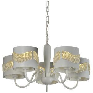 ANTONIO LAMPA WISZĄCA 5X60W E27 BIAŁY - 35-23001