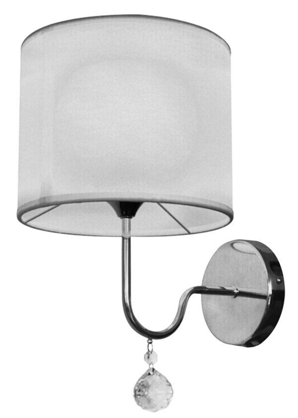 BRAVA LAMPA KINKIET D-22 1X60W E27 BIAŁY - 21-23230