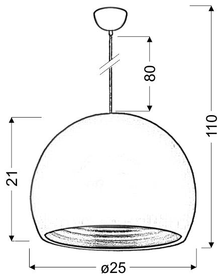 PICTOR LAMPA WISZĄCA 25 1X60W E27 ZIELONY/SREBRNY ODBŁYŚNIK - 31-24930