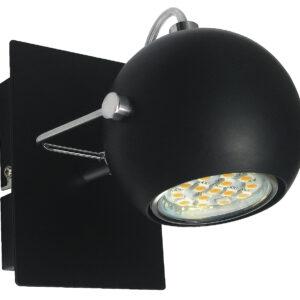 TONY LAMPA KINKIET 1X3W LED GU10 CZARNY MATOWY - 91-25005
