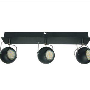 TONY LAMPA SUFITOWA LISTWA 3X3W LED GU10 CZARNY MATOWY - 93-25029