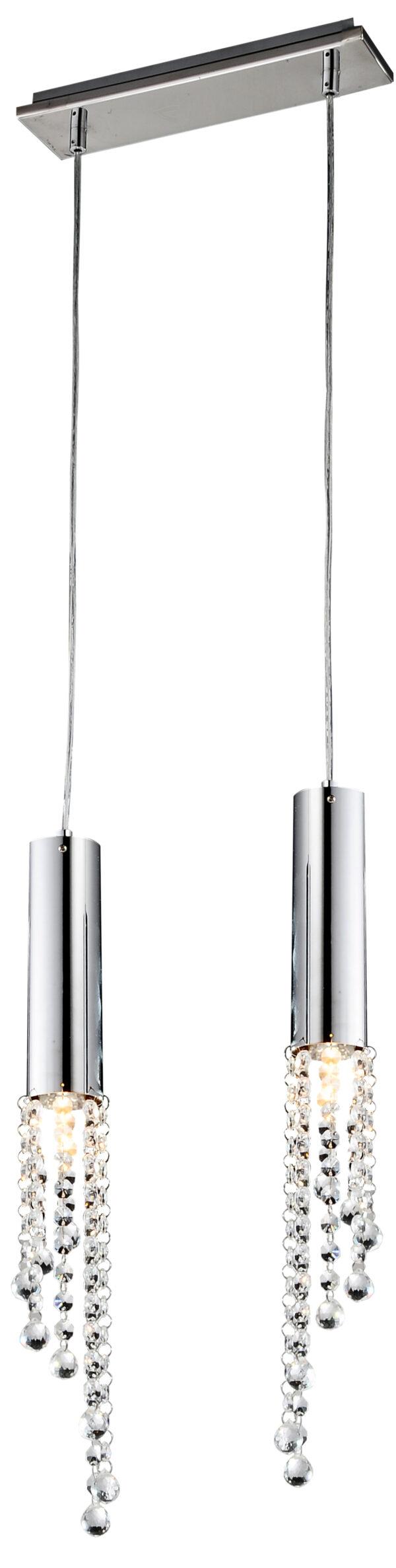 DUERO LAMPA WISZĄCA 2X3W LED GU10 CHROM - 32-25265