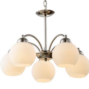 TOBAGO LAMPA WISZĄCA 5X60W E27 SATYNA - 35-25463