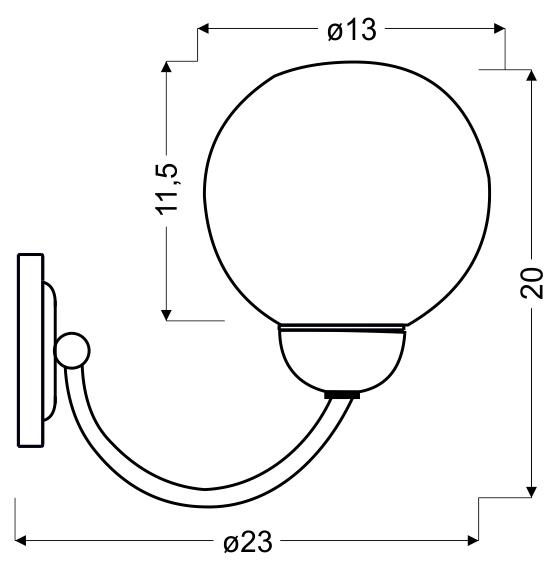 TOBAGO LAMPA KINKIET 1X60W E27 SATYNA - 21-25487