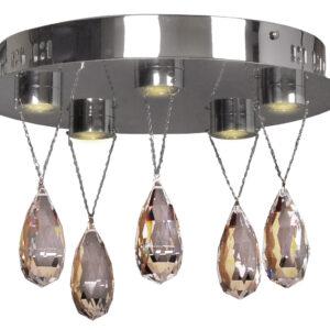 PRISMA LAMPA SUFITOWA PLAFON 5X3W LED CHROM - 98-25722