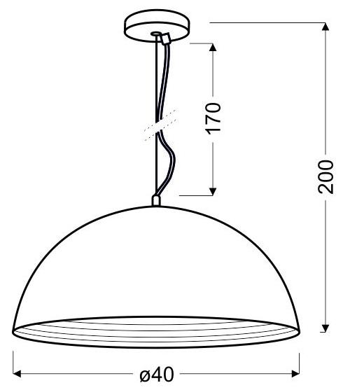 DORADA LAMPA WISZĄCA 40 1X60W E27 CHROM - 31-26378
