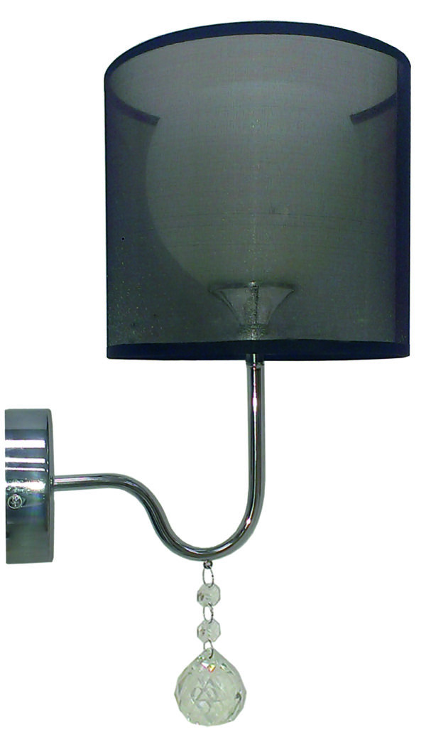 BRAVA LAMPA KINKIET D-22 1X60W E27 CZARNY - 21-26552