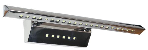 FORTE LED 3 LAMPA KINKIET 7W LED RURKA TRÓJKĄTNA Z WYŁĄCZNIKIEM CHROM - 20-27030