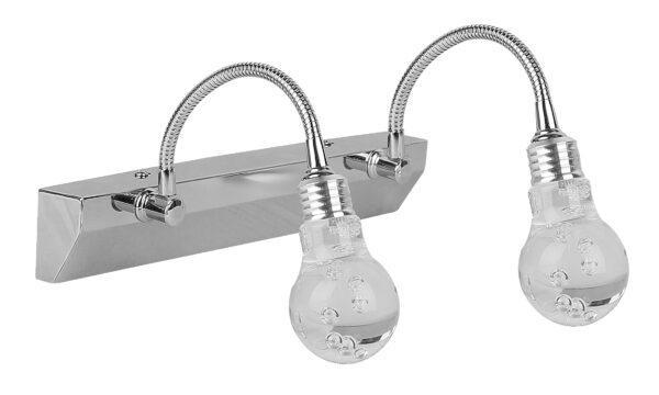 ACRYLIC LED LAMPA KINKIET 2X2W LED CHROM TRANSPARENT - 22-27047