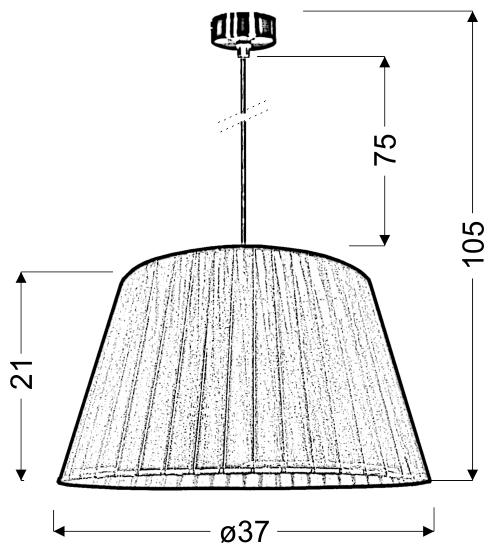 TIZIANO LAMPA WISZĄCA 37 1X60W E27 PISTACJA - 31-27153