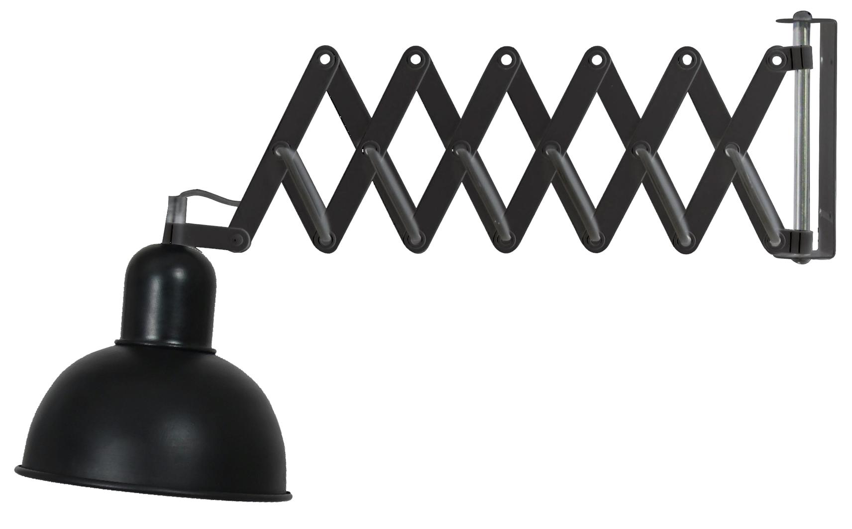 HARMONY LAMPA NA WYSIĘGNIKU HARMONIJKOWYM 1X40W E27 CZARNY - 41-27900