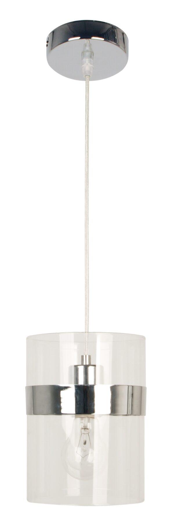 BRANDO LAMPA WISZĄCA 15 1X60W E27 CHROM / TRANSPARENT - 31-28044