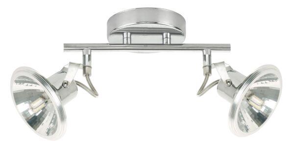 MOON LAMPA SUFITOWA LISTWA 2X3,5W LED G9 CHROM - 92-28082