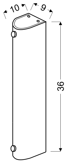 ABREGO LAMPA SUFITOWA PLAFON 36/10 2X60W E27 - 10-28617