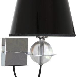 TESORO LAMPA KINKIET 1X40W E14 CZARNY ZŁOTY SRODEK - 21-29508