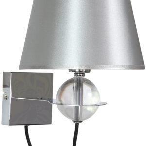 TESORO LAMPA KINKIET 1X40W E14 SREBRNY - 21-29522