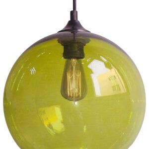 EDISON LAMPA WISZĄCA 25 1X60W E27 ZIELONY + ŻARÓWKA - 31-29546