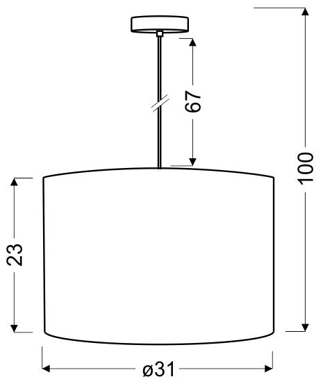 SUSAN LAMPA WISZĄCA 31 1X60W E27 BIAŁY - 31-29843
