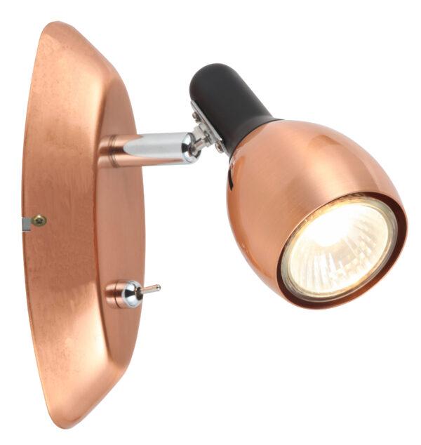 CROSS LAMPA KINKIET 1X50W GU10 MIEDZIANY - 91-32768