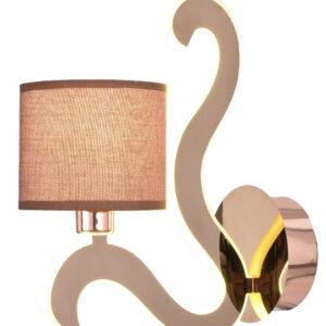 AMBROSIA 3 LAMPA KINKIET 1X40W E14 + 6W LED MIEDZIANY - 21-33499